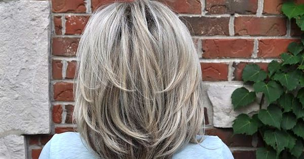 Nice haircut and gray hair.