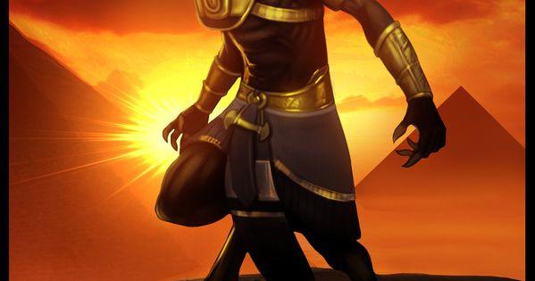 "Egypt Warrior Illustration Anubis Pyramid Fantasy Art: ""Anubis - God Of The Death"" By Dyana Wang"