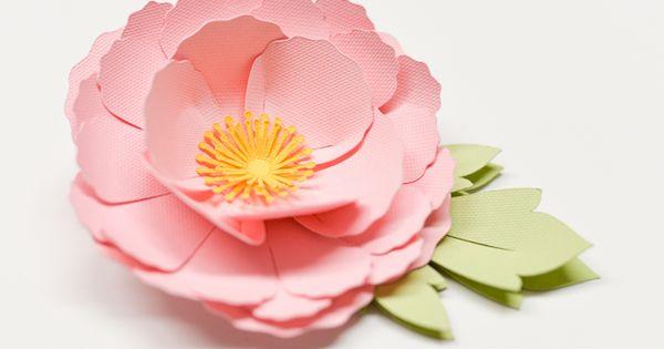 how to make flowers cricut