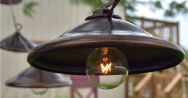 Hanging / Rustic / Modern / DIY / Outdoor / Bronze Metal Patio String Lights - Oogalights.com ...