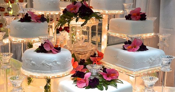 creme brulee instead of wedding cake lighted wedding cakes presentation light 13089