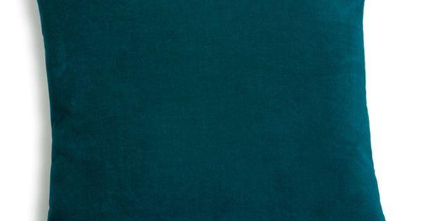 coussin en velours bleu canard maisons du monde cushions pinterest pillows condos and. Black Bedroom Furniture Sets. Home Design Ideas