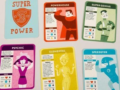 Super Power Cards Game Card Design Board Games Board Game Design
