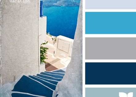 colour palette - Med blues