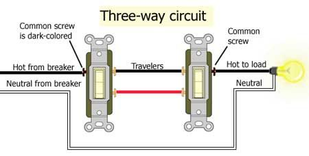 3 Way Circuit Wire Switch Light Switch Wiring Three Way Switch