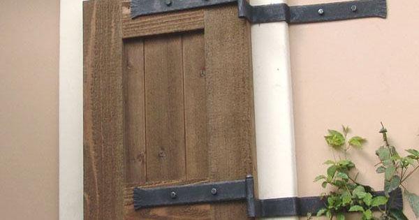 Functional Exterior Window Shutters Iron Hinge Strap