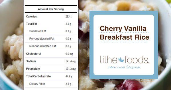 Cherries, Vanilla and Rice on Pinterest
