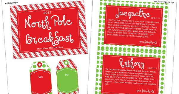 Elf on the Shelf ideas for North Pole Introduction Breakfast!