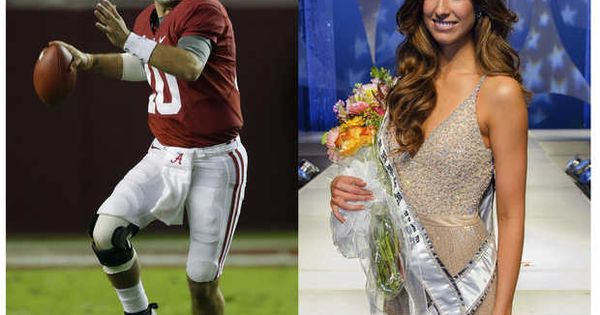 miss alabama dating quarterback Espn announcers go gaga over alabama qb's beauty queen girlfriend during title game: 'wow of alabama's quarterback dating current miss alabama.