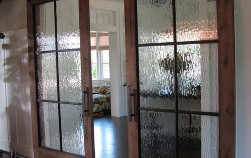 These Sliding Doors Have Beautiful Glass In Them. They