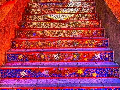Looks like a colorful stairway to heaven!