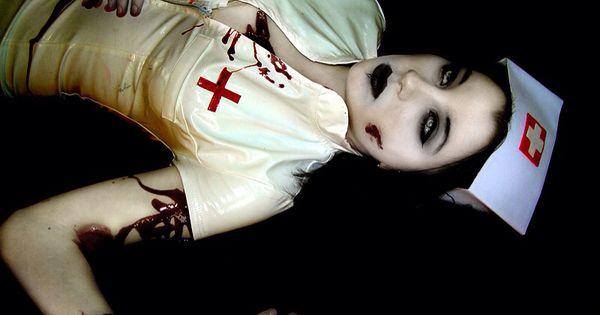 foto de Halloween dead zombie nurse costume and makeup Halloween faces Pinterest Zombie nurse