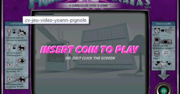 Cv En Mode Jeu Video De Yoann Pignole Fun Play