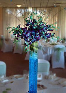 Centerpiece Wedding Flower Centerpieces Blue Orchid