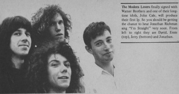 The Modern Lovers Circa 1972 The Modern Lovers The Cars Band Talking Heads