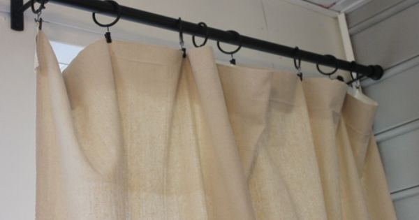 Outdoor Curtain Rods And Dropcloth Curtains Diy Projects Home