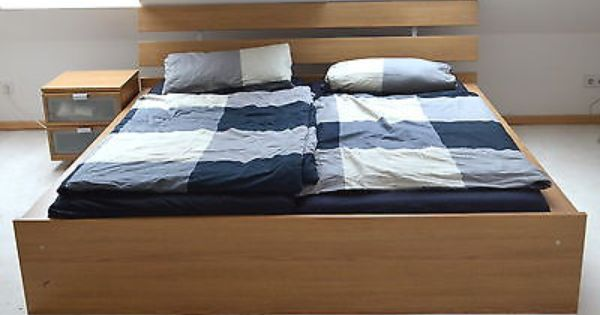 Ikea Bett Hopen Eiche 180 X 200 Cm Home Home Decor Furniture