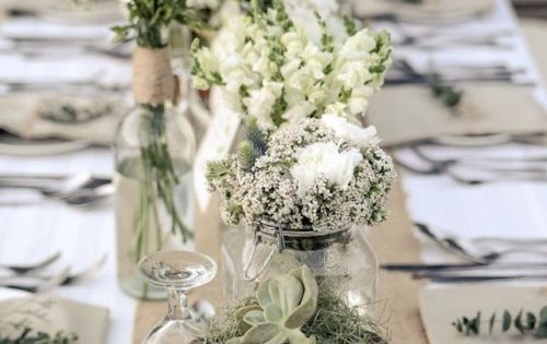 44 beautiful barn wedding table settings weddingomania - Idees deco mariage champetre ...