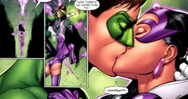 Hal And Carol As Green Lantern And Star Sapphire Kissing