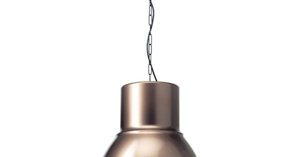 Ikea hektar suspension ce luminaire diffuse une agr able lumi re au des - Lampe au dessus d une table ...
