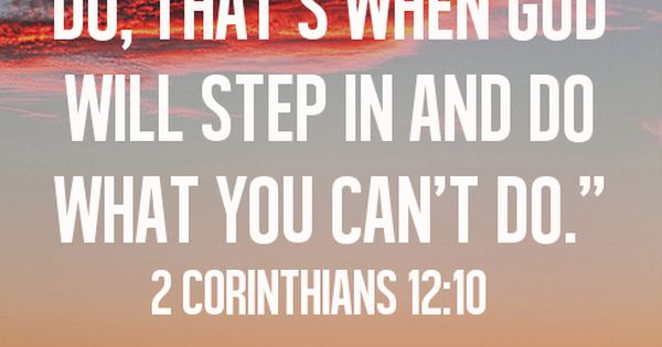 When you've done everything you can do, that's when God will step