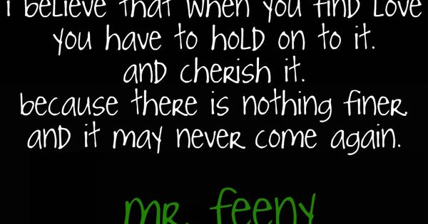 I wish there was a mr. feeny in my life.