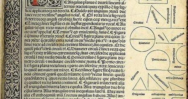 Erhard Ratdolt Geometriae Elementa 1482 Book Art Book Binding