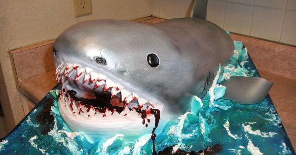 Shark Cake Cake Decorating Ideas Pinterest Shark