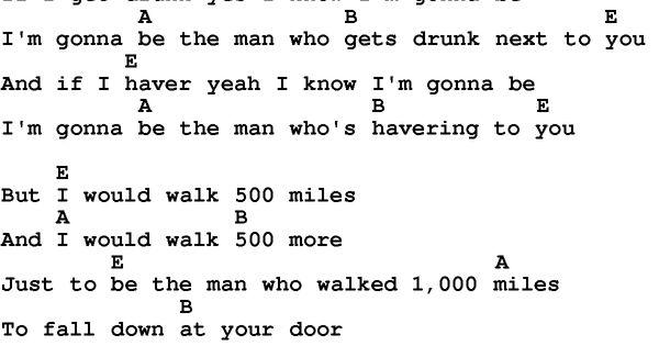 500 Miles Chords