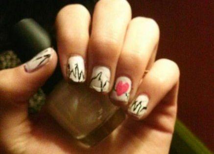 32 Ideas For Nails Coffin White Ring Finger Nails White Nails
