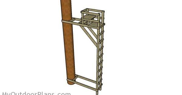 Ladder tree stand plans deer blind plans pinterest for Platform tree stand plans