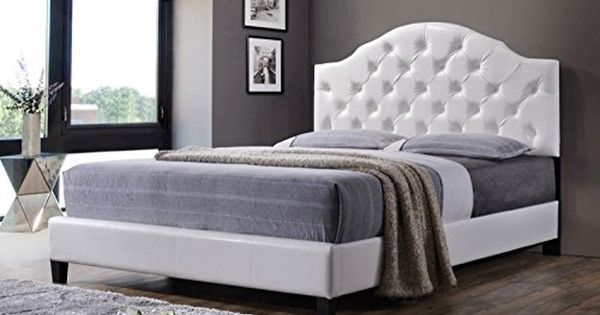 Price Tracking For As Quality Luxury High End Tufted Bed Frame With Headboard Footboard White Queen 2840white Price History Chart And Drop Alerts For Ama Upholstered Platform Bed Queen