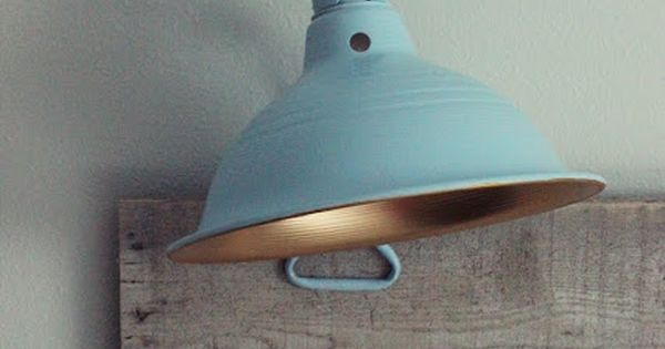 $7 clamp lamps from Lowe s, taped over the electrical inside, spray painted the inner side gold ...