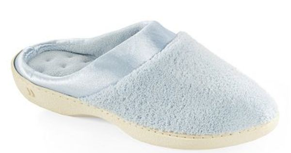 Isotoner Microterry Satin Clog Slippers