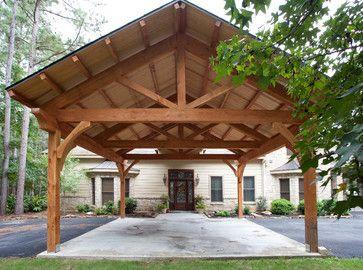 Houston Timber Frame Traditional Garage And Shed Houston Texas Timber Frames Carport Designs Timber Framing Carport