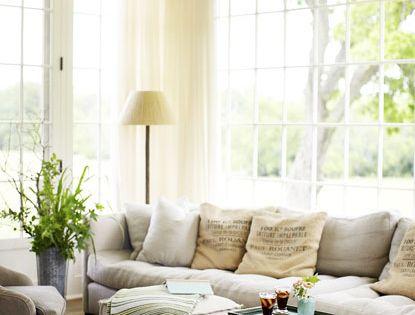 Photos: A Modern Farmhouse Living Room in Tan