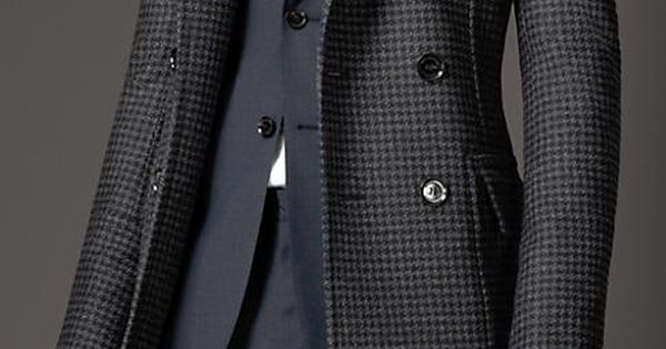 Burberry - VIRGIN WOOL HOUNDSTOOTH GREATCOAT Men's Fashion LIKE | PIN |