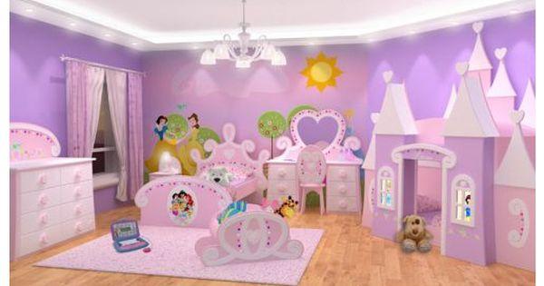 Dormitorios de princesas disney dormitorios fotos de - Habitaciones infantiles disney ...