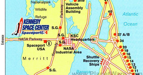 nasa kennedy center in florida map - photo #16