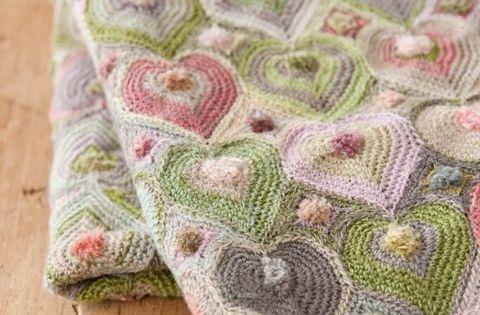 plaid aux coeurs crochet tuto gratuit diy crochet et tricot pinterest crochet. Black Bedroom Furniture Sets. Home Design Ideas