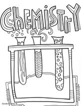 Science Printables And Coloring Pages At Classroom Doodles Enjoy School Coloring Pages Chemistry Classroom School Binder Covers