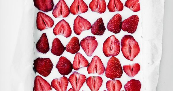 coconut strawberry sheet cake-- @Faith Martin Ponti when you come back ill