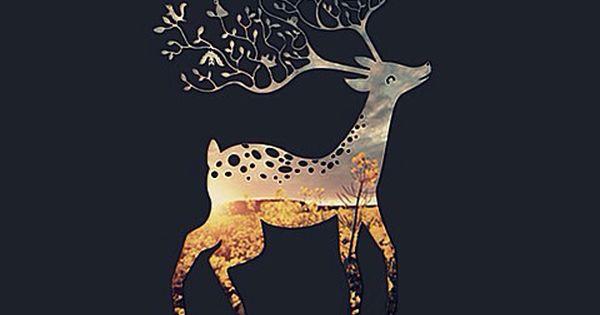 Deer Wallpaper •cute •autumn •winter •iphone •background