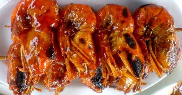 Honey Grilled Shrimp Resep Udang Bakar Resep Udang Masakan Asia