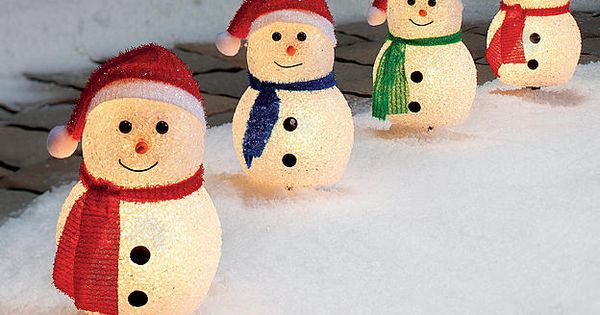 Trim a home cute snowman christmas pathways 6 tall of 4 at kmart 10 29 15 - Trim a home outdoor christmas decorations ...
