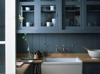 Dark Kitchen Cabinets by Plain English