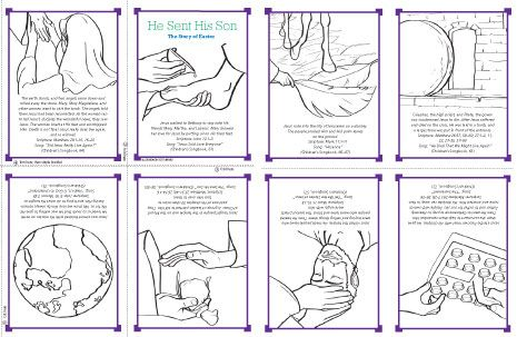 Coloring Pages And Story For Easter From The Lds Friend Magazine