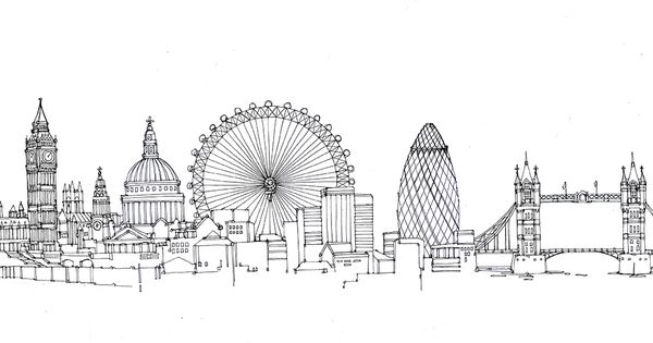 Line Drawing Tattoo London : Image result for london skyline tattoo dreaming in ink