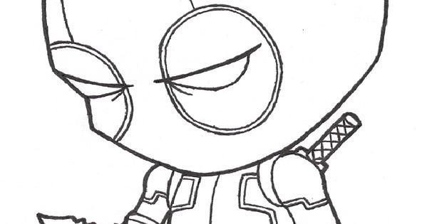 Deadpool Para Colorear Pintar E Imprimir: Deadpool Chibi Para Colorear