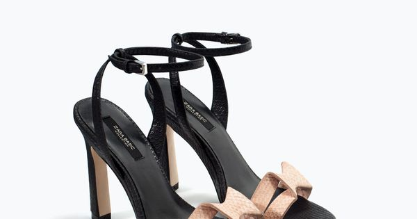 Heel sandals - HIGH-HEELED SANDAL WITH ANKLE STRAP from Zara